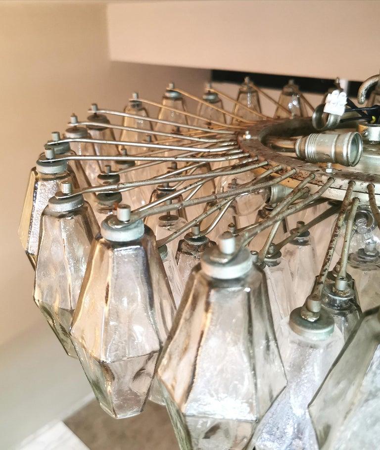 Chandelier Poliedri by Carlo Scarpa for Venini Murano Glass Midcentury Italy 60s 9