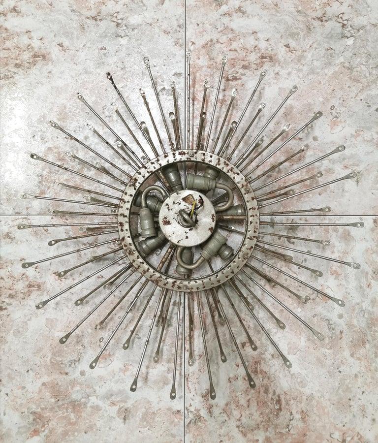 Chandelier Poliedri by Carlo Scarpa for Venini Murano Glass Midcentury Italy 60s 10