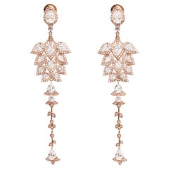 Chandelier Statement Earrings Rose Gold-Plated Sterling Silver