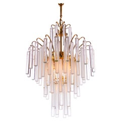 Palwa Crystal and Brass Chandelier Germany, 1960s