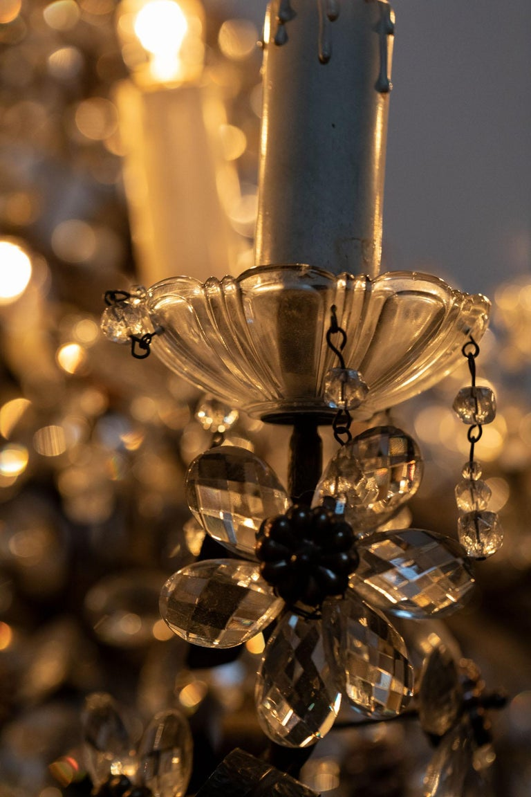 Chandelier with Crystal Pendants For Sale 2