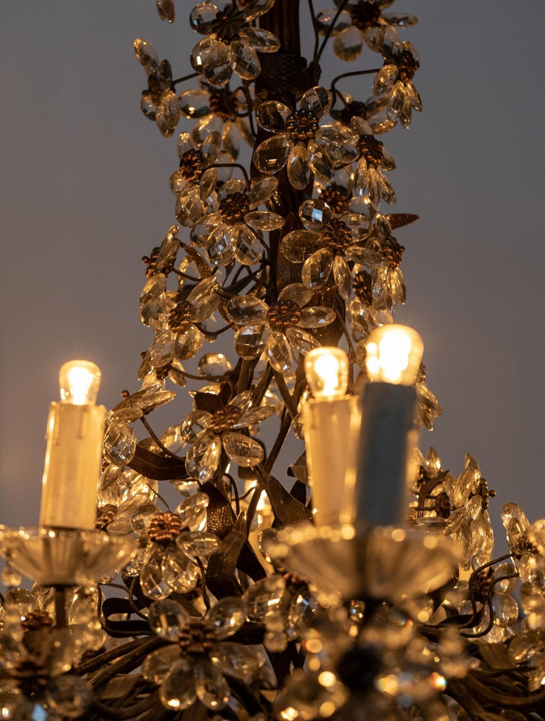 Chandelier with Crystal Pendants For Sale 3