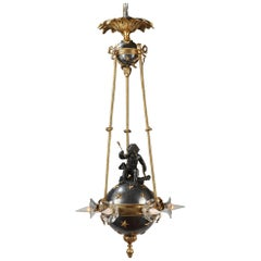 Chandelier with Cupid