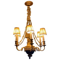 Chandelier with Six Lamps Attached, Classical Design