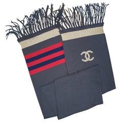 Chanel 09A Cashmere CC Logo Scarf