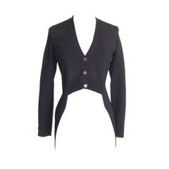 Chanel 11P Black Sweater Tuxedo Tails Inspired Unique 34 / 2  nwt