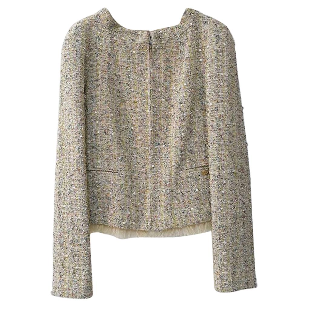 Chanel 11P Ostrich Feathers Embellished Jacket