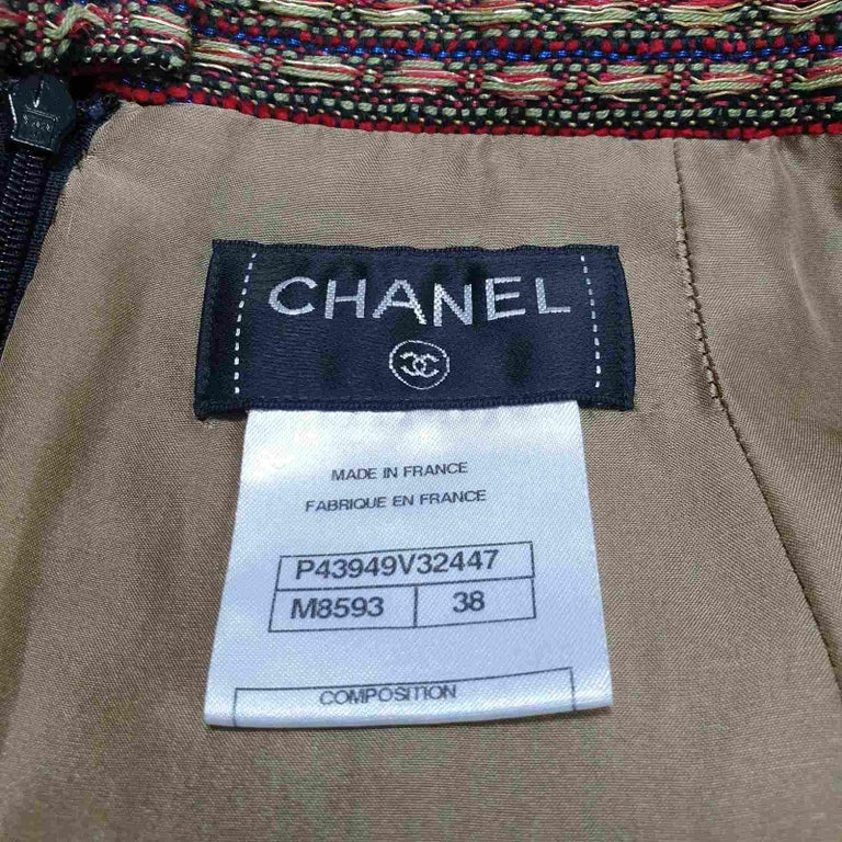 Chanel 12A Paris Bombay Pearl Chain Jacket Skirt Suit For Sale 11