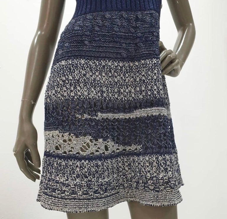 Chanel 12P Sleeveless Knit Dress  For Sale 2