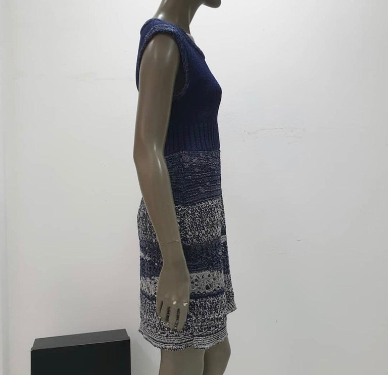 Chanel 12P Sleeveless Knit Dress  For Sale 3