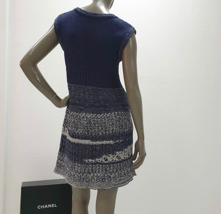 Chanel 12P Sleeveless Knit Dress  For Sale 4