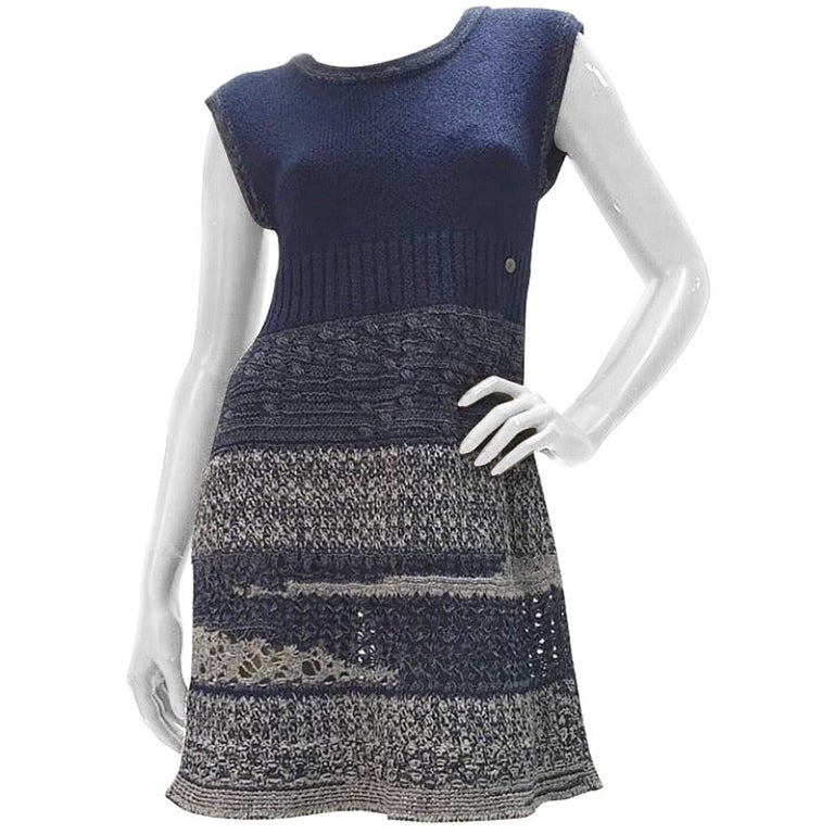 Chanel 12P Sleeveless Knit Dress  For Sale