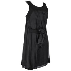 Chanel 13P Dress Black Sleeveless Culotte 34 / 2