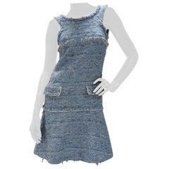 Chanel 15P Light Blue Fantasy Tweed Dress