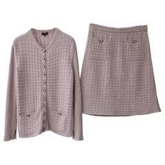 Chanel  17A Paris-Cosmopolite Cardigan  Skirt Suit Set Lion Buttons