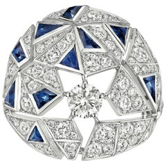 """Chanel 18 Karat Gold, Sapphire and Diamond """"Muse"""" Ring, Café Society Collection"""