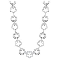 Chanel 18 Karat White Gold, 3.00 Carat Diamond Necklace