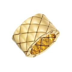 Chanel 18 Karat Yellow Gold Wide Band Ring