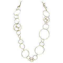Chanel 18k Gold Hoop link Necklace
