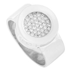 Chanel 18k White Gold Diamond Ring