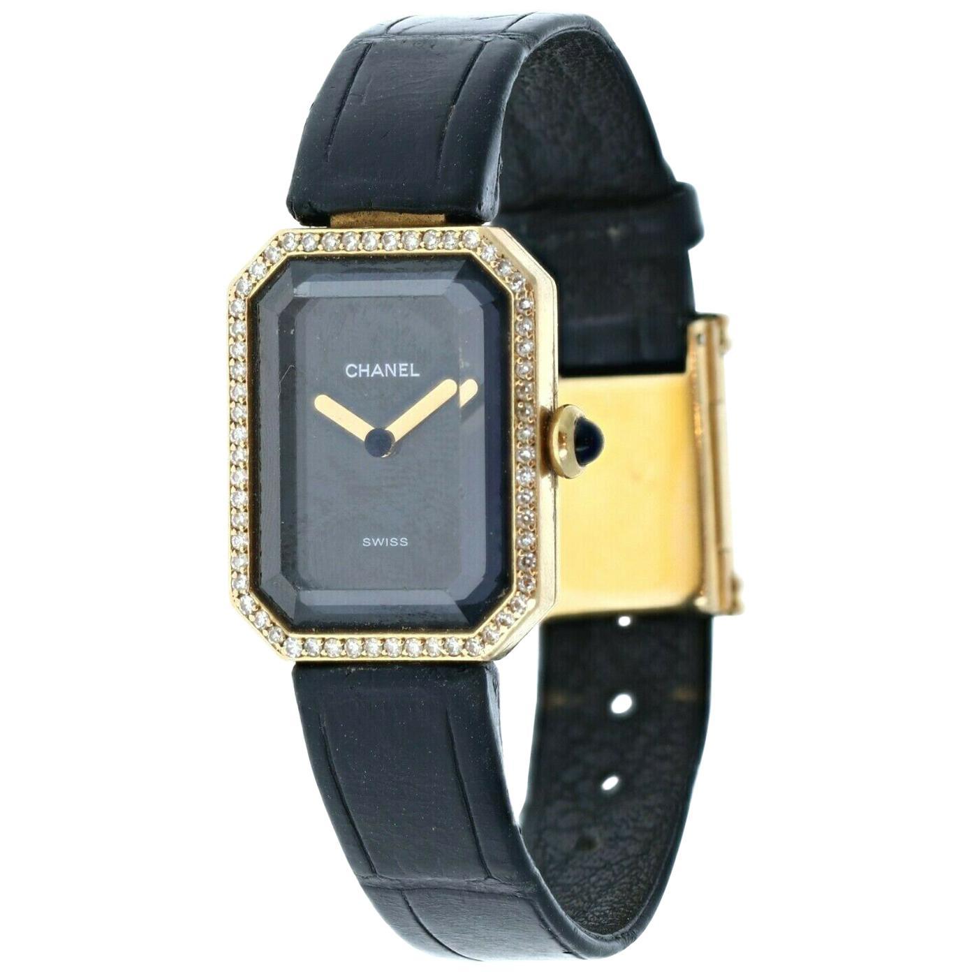 Chanel 18k Yellow Gold & Diamond Première Watch