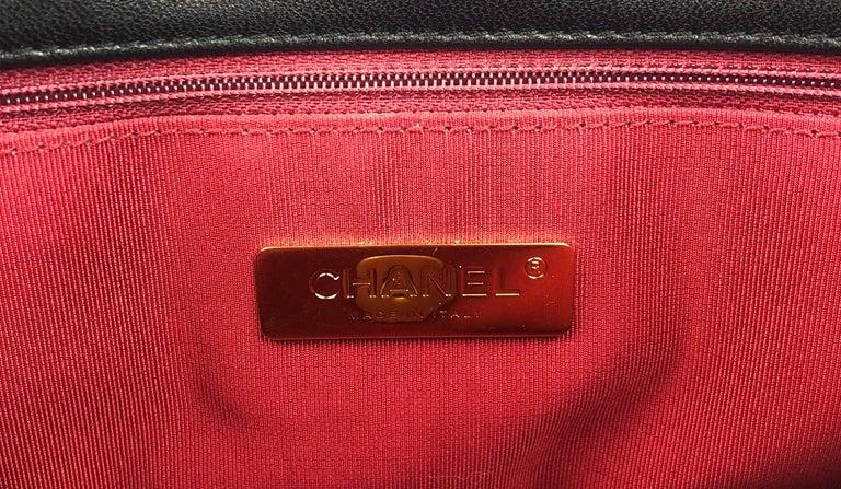 Chanel 19 Flap Bag 20s Black Goatskin  For Sale 2
