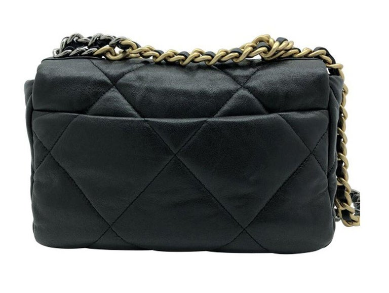 Chanel 19 Flap Bag - Small - Black/Gold - SOLD OUT For Sale 8