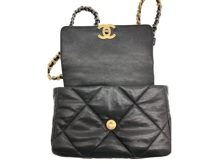 Chanel 19 Flap Bag - Small - Black/Gold - SOLD OUT For Sale 1