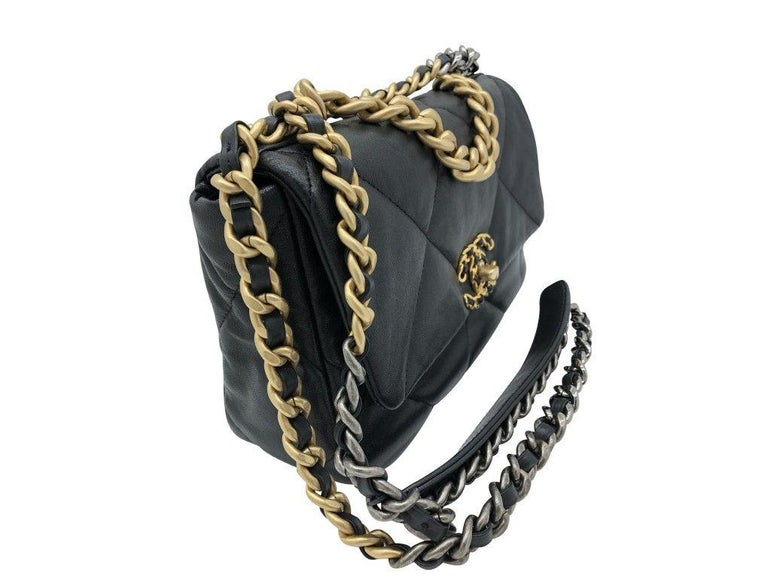 Chanel 19 Flap Bag - Small - Black/Gold - SOLD OUT For Sale 5