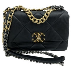 Chanel 19 Flap Bag - Small - Black/Gold - SOLD OUT
