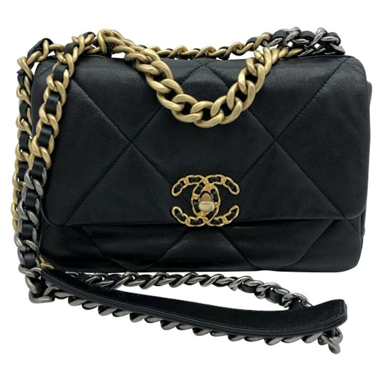 Chanel 19 Flap Bag - Small - Black/Gold - SOLD OUT For Sale