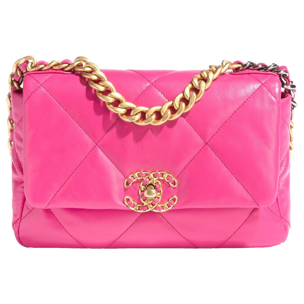 Chanel 19 Neon Pink Handbag