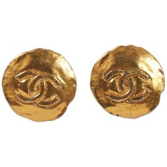Chanel 1970's Logo Earrings