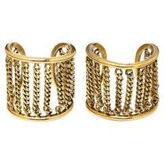 Robert Goossens for Chanel Pair of Gold Cuff Bracelets