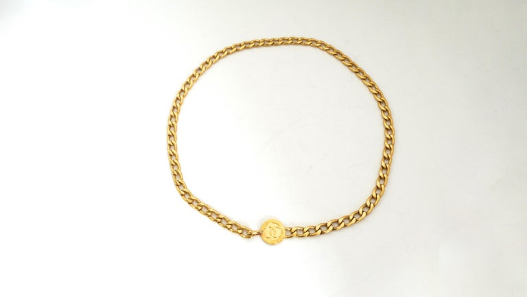 Chanel 1980s 'CC' Pendant Chain Belt In Good Condition For Sale In Scottsdale, AZ