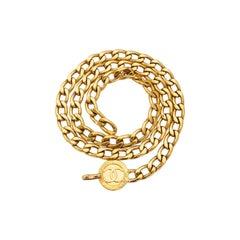 Chanel 1980s 'CC' Pendant Chain Belt