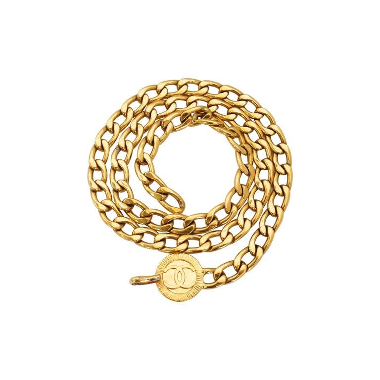 Chanel 1980s 'CC' Pendant Chain Belt For Sale