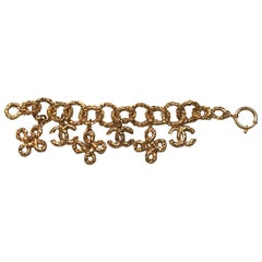 Chanel 1980s Gold Nugget Charm Bracelet