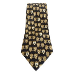 Chanel 1990s Lion & 'CC' Crest Silk Tie