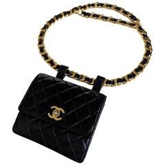 Chanel 1991 Ultra Rare Vintage Waist Belt Bag Fanny Pack