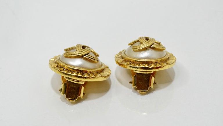 Women's or Men's Chanel 1994 CC Clip-On Earrings  For Sale