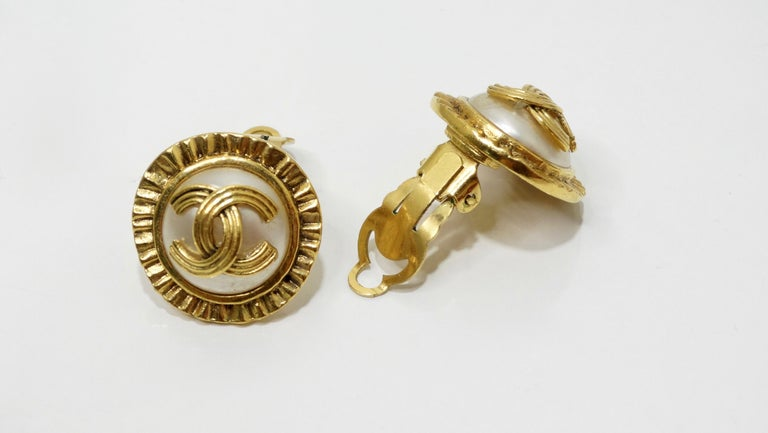 Chanel 1994 CC Clip-On Earrings  For Sale 2