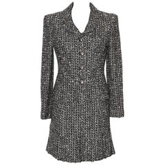 Chanel 1997 97A Black and White Wool Tweed Suit