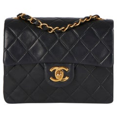 Chanel 1997 Black Quilted Lambskin Leather Vintage Mini Flap Bag