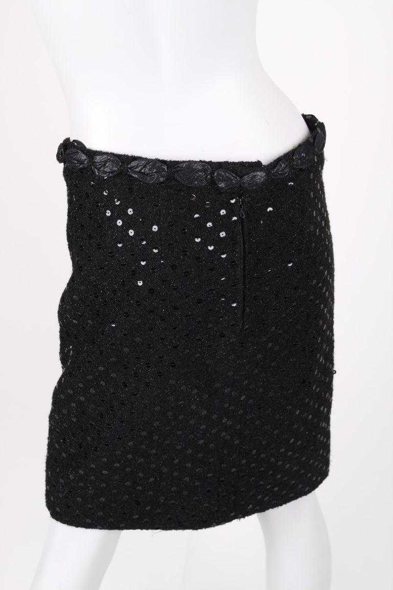 Chanel 2-pcs Sequin Suit Jacket & Skirt - black 1983 For Sale 6
