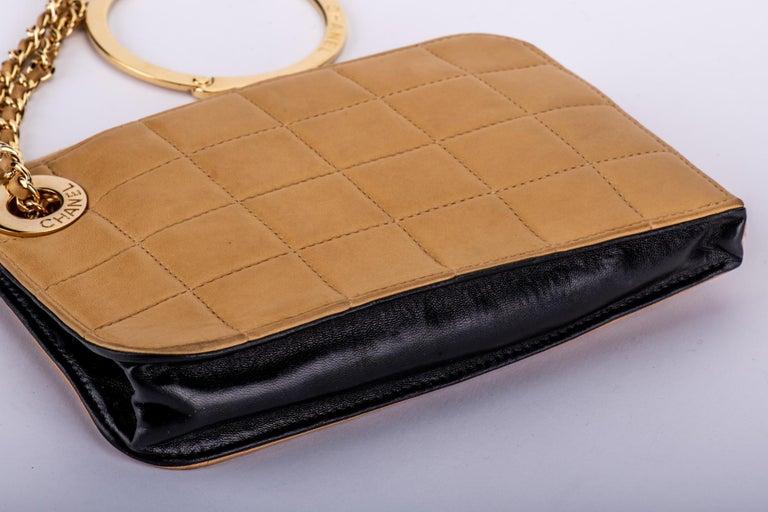 Women's Chanel 2 Tone Wristlet Evening Bag