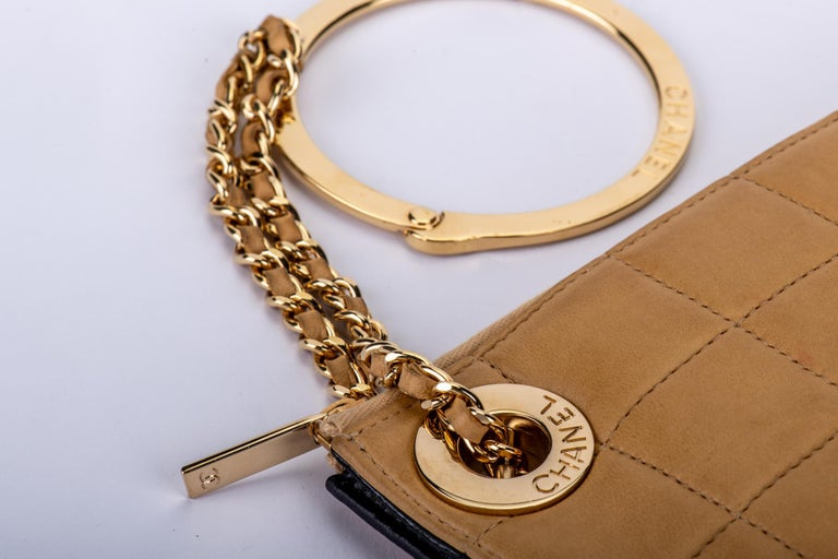 Chanel 2 Tone Wristlet Evening Bag 1