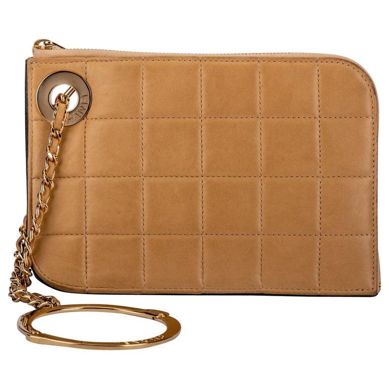 Chanel 2 Tone Wristlet Evening Bag