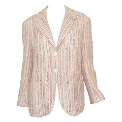 Chanel 2000 C Beige Multicolor Tweed Jacket