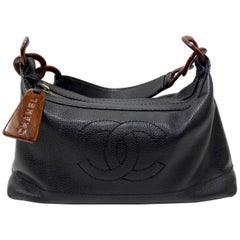 Chanel 2000s CC Wood Chain Hobo Bag